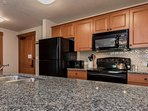 Fully Equipped Kitchen- Granite Counter Tops