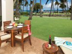 Lanai with table, 4 chairs and a chaise lounge!
