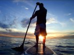 Go Stand-Up Paddleboarding  from 'Off D Hook' Beach Bar on Paradise Beach.