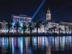 SPLIT - RIVA PROMENADE SEA VIEW BY NIGHT