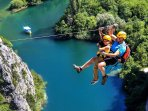 ZIP LINE OVER THE CETINA RIVER