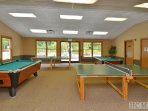 On a rainy day, the kids can enjoy pool and ping pong at the SV Rec Center.