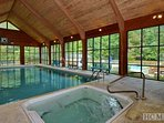 The Sapphire Valley Rec Center features this indoor heated pool and spa. We also have two saunas.