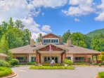 This is the Sapphire Valley Community Center where you'll pick up your guest amenity passes.
