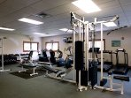 The fitness center was just renovated with new cardio and strength training equipment.