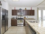The Kitchen is Fully Equipped for you to make great meals.