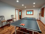 Table tennis room for the whole family!