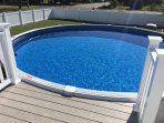 New 21 foot pool showing new fence