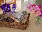 To welcome you to Fox's Place. Includes, tea, coffees, hot chocolate and lovely biscuits!