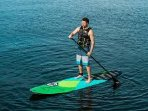 Paddle across the cove on a complimentary stand up paddle board.