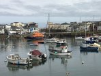 The harbour town of Portrush.Look up the Harbour bar for great food.