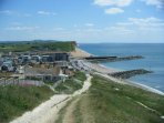 The pretty seaside village of West Bay just 17 miles away
