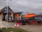 Llandudno's New lifeboat station and vessel on North shore, Just down the road from us.