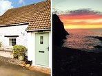WREN COTTAGE, semi-detached, on working farm, shared private beach, in Berrynarb