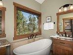 Take A Soak In The Designer Tub In The Master Bath