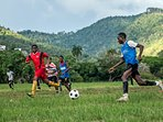 Lots of games of football and cricket are played in the savannah