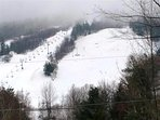 View of the ski hill from our Deck.  Feels like you can almost touch it!