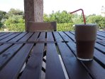 Ice cold Frape coffee time!