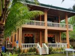 Escape to our quiet 5-bedroom villa by the sea. Fresh welcome drinks awaits your group.