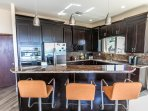 Kitchen - cherry wood cabinets / all new appliances.