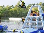 AQUA PARK ASSAULT COURSE OPEN APRIL TO OCTOBER LOTS OF FUN TO HAVE HERE