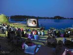 OUTDOOR CINEMA ENJOYED MOST NIGHTS AROUND THE MAIN LAKE SUCH A EXPIERENCE