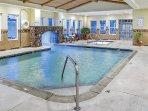 Heated indoor pool and hot tub!