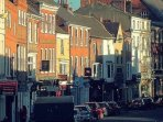 MIcklegate with all its coffee shops and restaurants - just a 2 minute stroll away