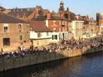 Yorks ancient pubs and restaurants along the river, just 2 minutes walk away.