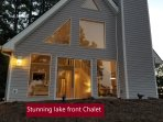 Stunning Lake front Chalet with 30 acre private lake with breathtaking views,near Pool's Mill falls