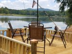 Chalet has its own private fishing and viewing deck,relax with a and take in the splendid views