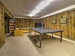 Challenge your friends in a game of ping pong in the game room!