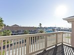 The westerly view shows how close you are to lots to do on South Padre Island.