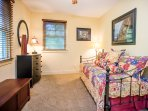 Upstairs bedroom with twin trundle bed