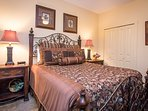 Queen bedroom with all of the essentials for rest and relaxation