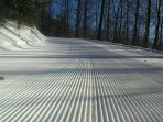 Perfectly groomed trail.  Shout out to our groomers!