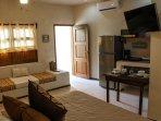1 BEDROOM  A/C  SMART TV DISH SATELLITE KITCHEN WITH FULL FRIDGE AND FREEZER UTENSILS CLOSET