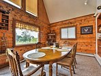 Host family dinners around this 6-person dining table.
