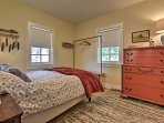 The home offers 2 comfortable bedrooms with queen-sized beds.