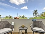 Unwind outside on the unit's massive private balcony and marvel in the amazing ocean views.