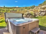 Spend your evening soaking aching muscles after the day's adventures in the outdoor hot tub.