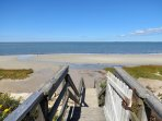 Private beach on Cape Cod Bay is just a two-minute walk from your door.