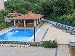 Gazebo and swimming pool