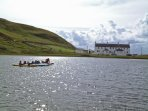 Canoeing on Loch Cleat right outside the Coastguard Cottages.