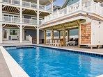 Backyard with a 14 x 38 Custom Concrete Pool