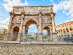 Nearby: the famous Arc of Constantine