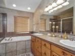 Upper Master Suite Bath/jetted tub