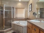 Lower Master/on suite full bath with jetted tub