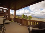 Large lakeview deck with private hot tub