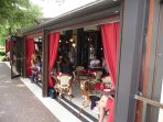 Lots of Outside Seating at Many Restaurants